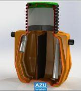 AZU WATER Grease Separator Orange, wastewater pre-treatment for domestic graywater.