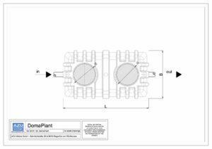 Impianto a fanghi attivi DomaPlant piccolo sistema di trattamento reflui domestici. Pianta.