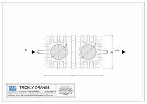 Filtro percolatore anaerobico TRICKLY ORANGE per trattamento reflui civili. Pianta.