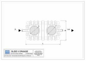 Deoliatore SLIDE II ORANGE rimozione oli minerali e liquidi leggeri a gravità. Pianta.