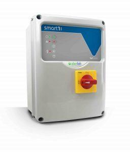 Quadro elettrico di controllo SMART EVO 1 per stazioni di sollevamento e pompaggio per il funzionamento di una pompa.