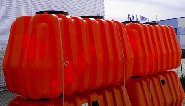 Nuova fossa settica triamerale in polietilene SEPTIC RS certificata e marchiata CE secondo la UNI EN 12566-1